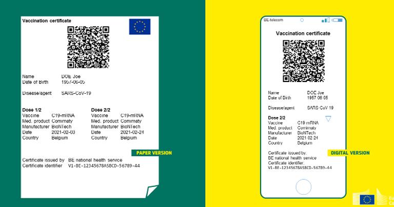 歐盟疫苗護照
